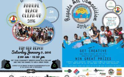 Upcoming events: Beach Clean-Up and Regatta Art Competition