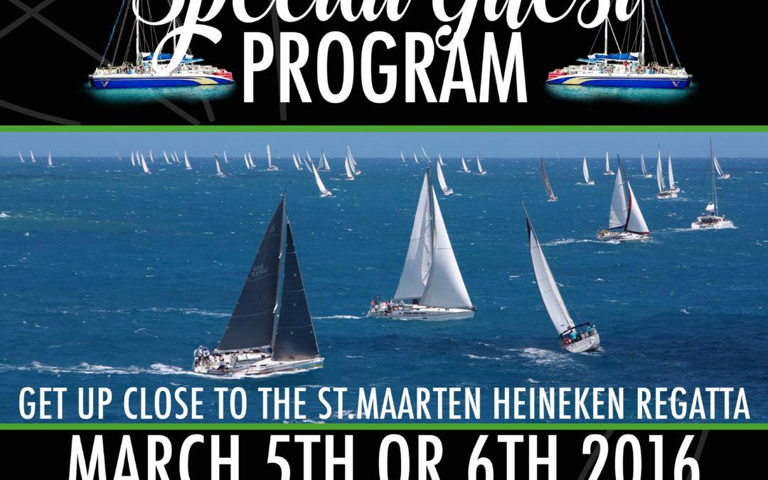 Feel like a real VIP on the official St. Maarten Heineken Regatta spectator boat