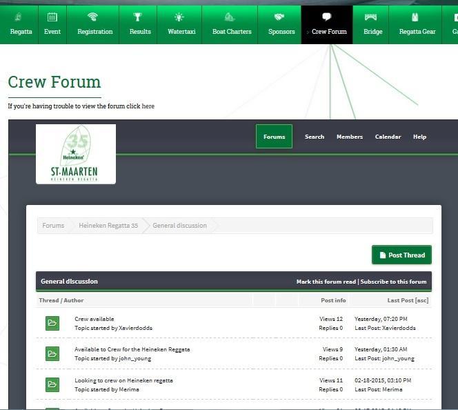 St. Maarten Heineken Regatta Crew Forum: the place to find your crew or a ride!