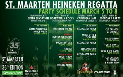 St.Maarten Heineken Regatta Preparing for the Ultimate Green Sensation Party this evening