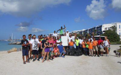 Great Turnout for St. Maarten Regatta 4th Annual Beach Clean-Up