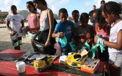 Successful St. Maarten Regatta Beach Clean-Up at Kim Sha Beach.