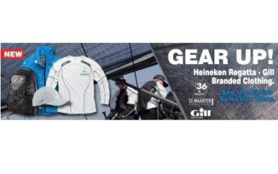 Gill Technical Gear for the 36th St. Maarten Heineken Regatta available in stores