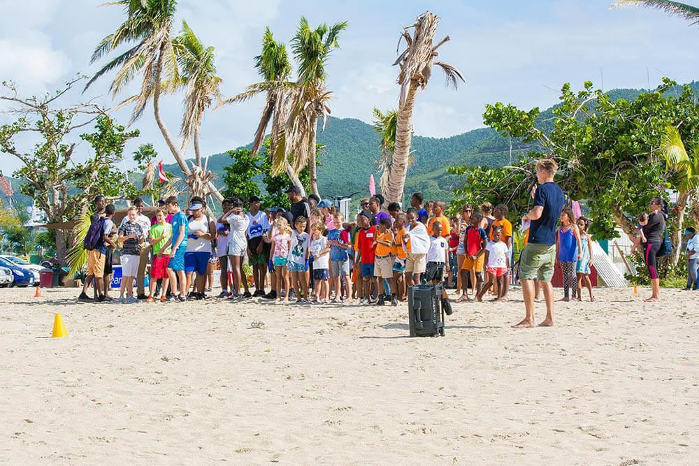 Over 100 participants in the 6th St. Maarten Regatta Beach Clean-Up
