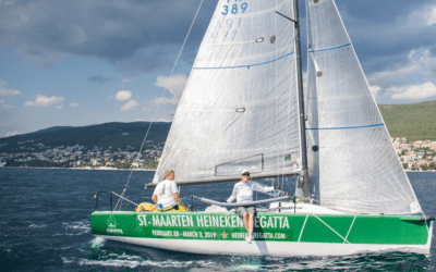 First during the race round KRK island – Croatia!